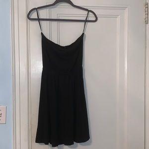 H&M black strapless sun dress